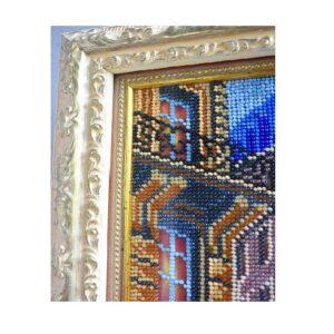 Картина вышитая бисером Париж двое 2