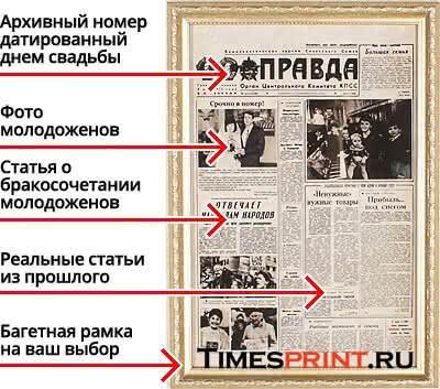 газета описание на свадьбу
