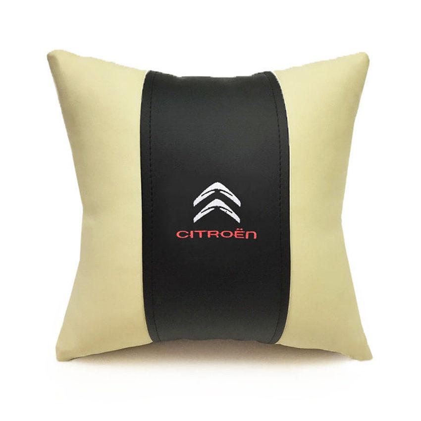 подушка в авто с логотипом Ситроен