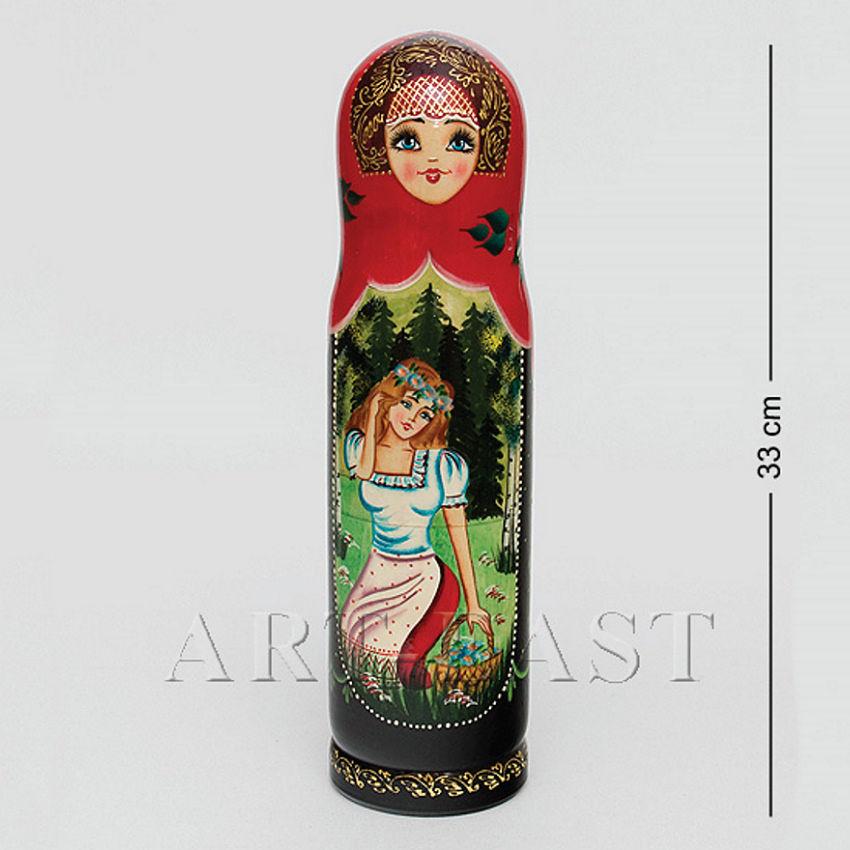 футляр для вина в форме фигурки девушки